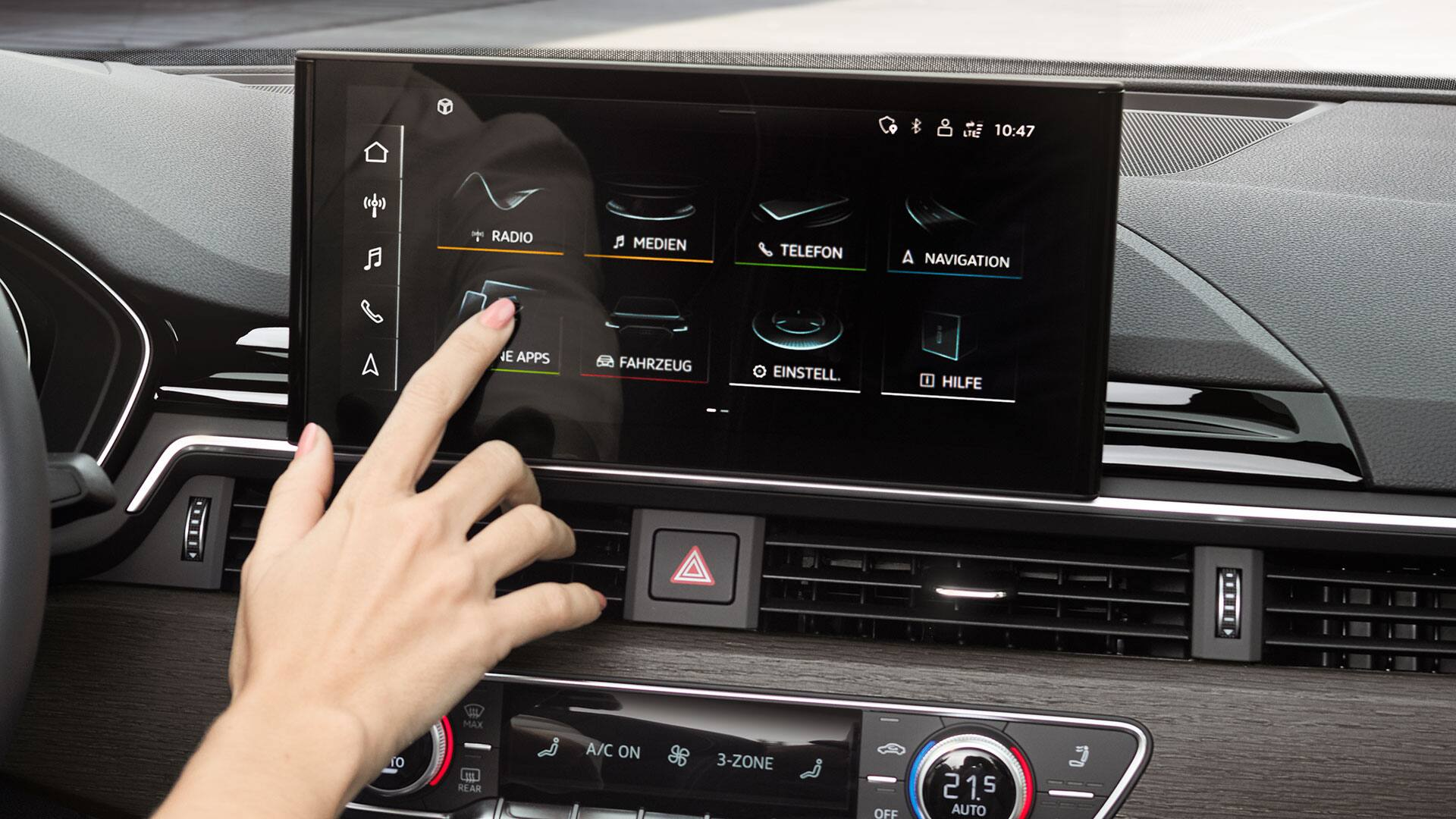 MMI touch-Display im Audi A5 Sportback