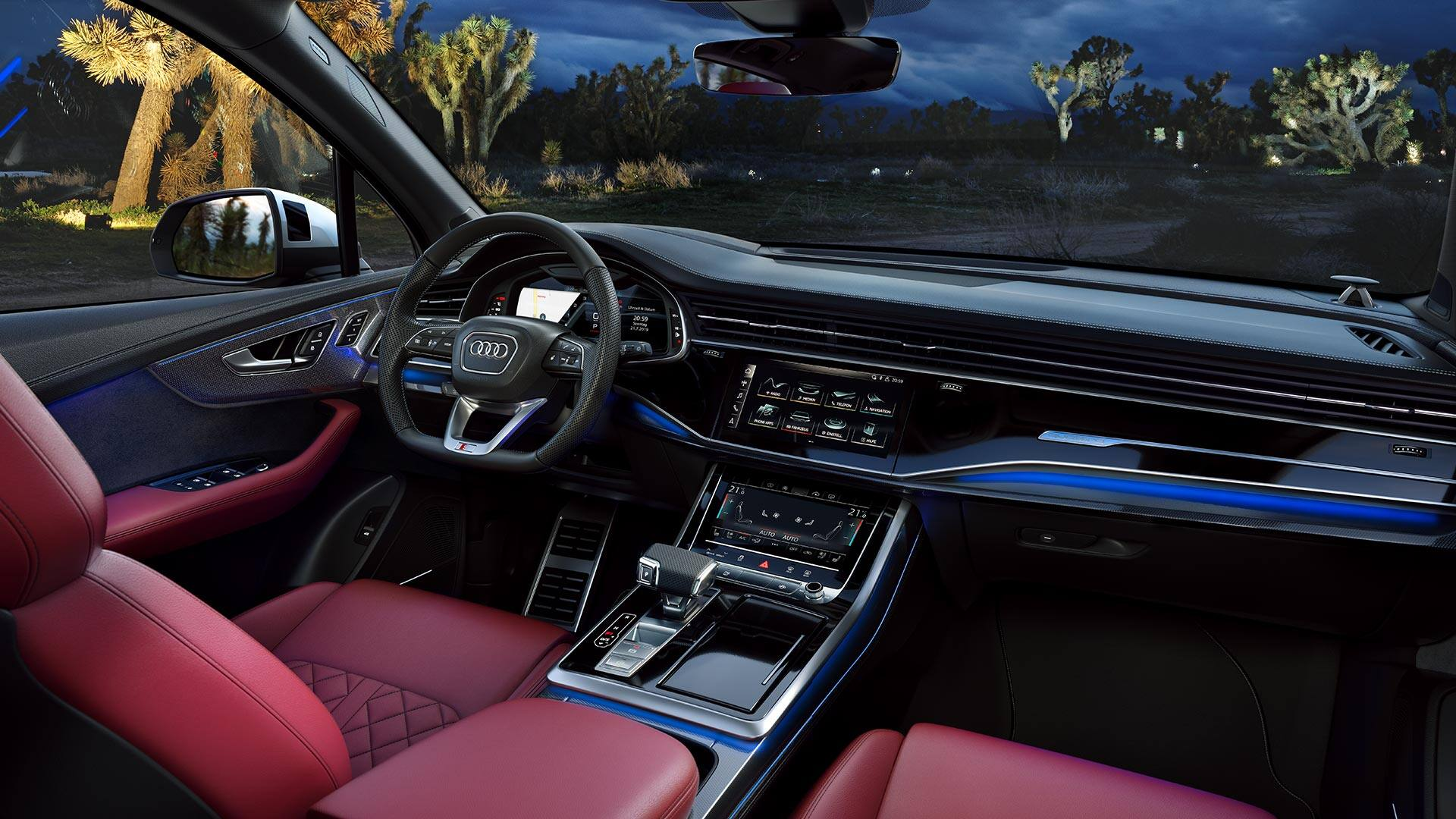 Interior of the Audi SQ7 TDI